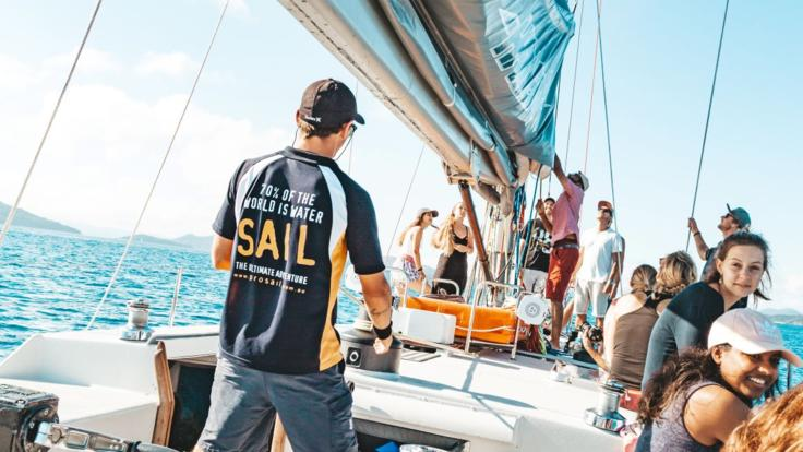 2 Day 1 Night Whitsunday Sailing | o	Get Involved and help hoist the sails! Or just sit back and relax