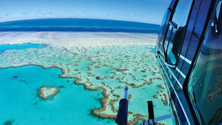 Helicopter Flights - Whitsundays - Heart Reef - Great Barrier Reef - Whitsunday Islands