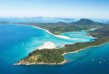 Helicopter scenic flight from Airlie Beach