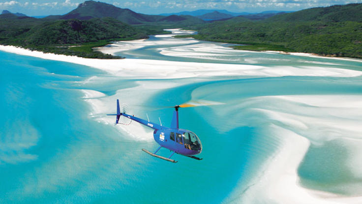 Helicopter Flights - Whitsundays - Whitehaven Beach