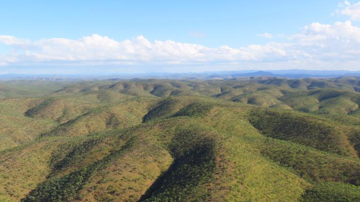 Amazing outback Queensland  views from helicopter
