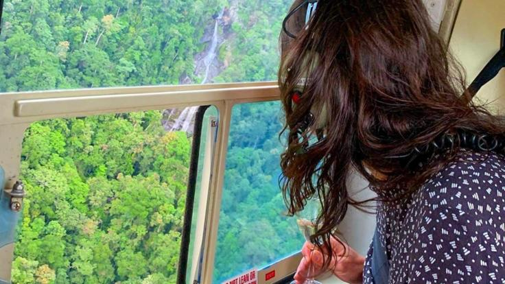 Cairns helicopter flights - Waterfalls enroute to the Mountain View Hotel from your Heli seat