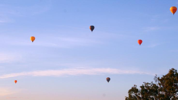 Hot air balloons in Cairns Queensland Australia