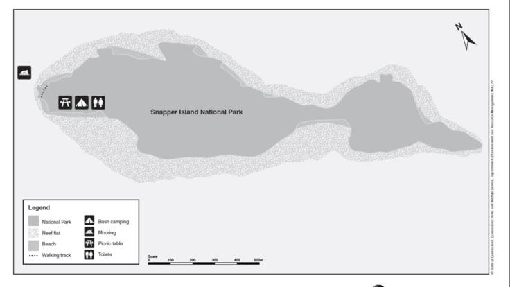 Map of Snapper Island, Great Barrier Reef