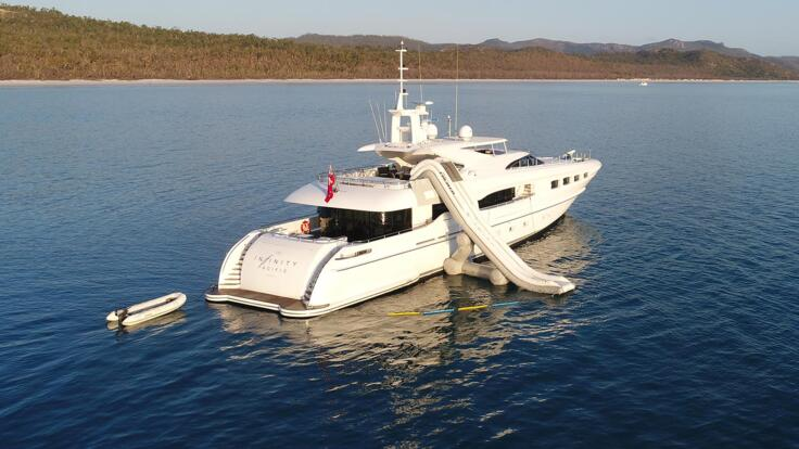 Superyachts Great Barrier Reef - At Anchor Whitsundays