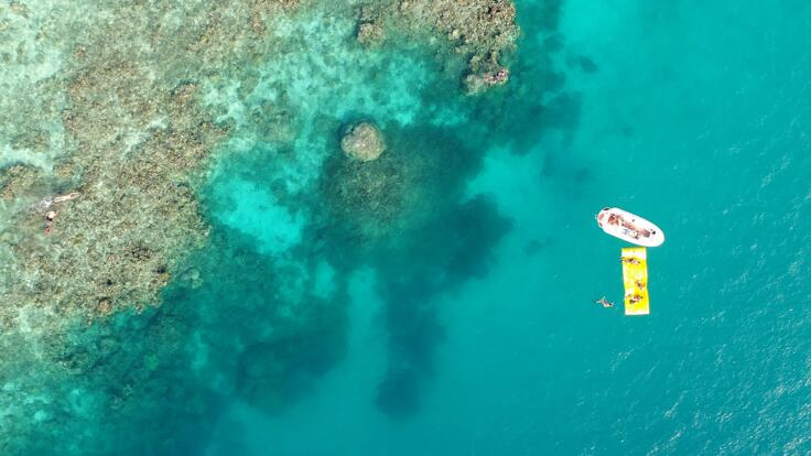 Superyacht Toy on the Great Barrier Reef