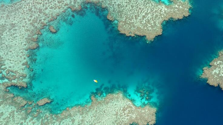 Superyacht Charters Great Barrier Reef - Aerial view of Superyacht