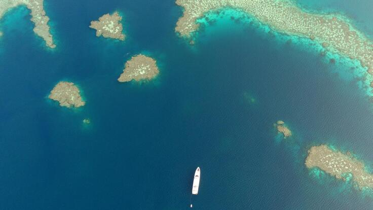Superyacht Charters Australia - Aerial View of Superyacht