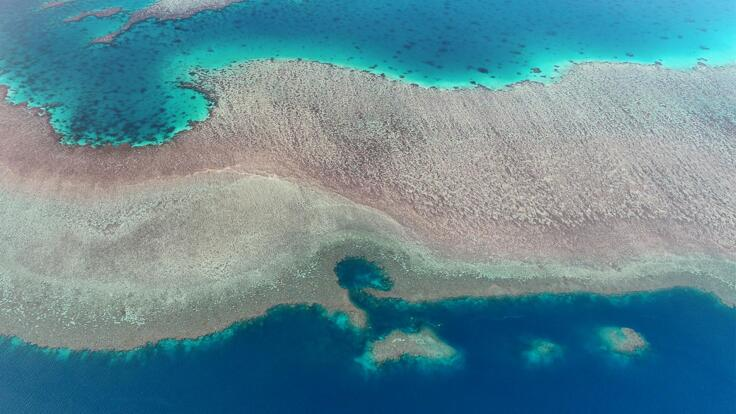 Superyacht Charters Australia - Aerial View of Great Barrier Reef
