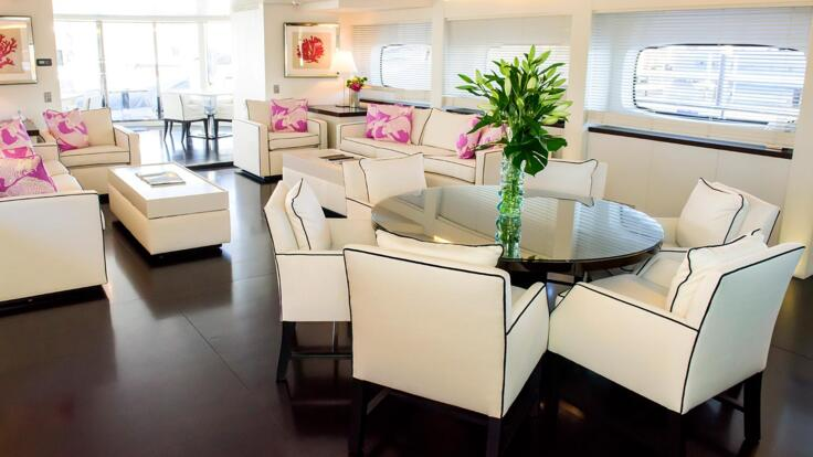 Superyachts Australia - Relax in the Salon - Dining Area