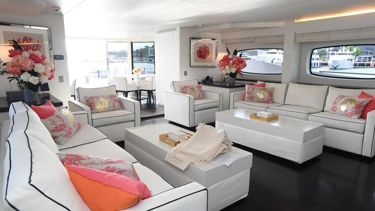 Great Barrier Reef Superyachts Salon and Dining Deck