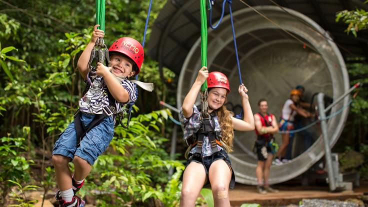 Family fun in the Daintree Rainforest on Zip Line Tour