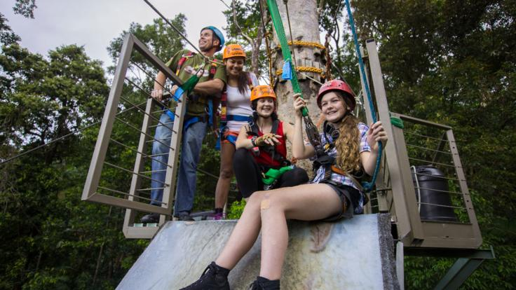 Small group zip line tours in the Daintree Rainforest in Queensland, Australia