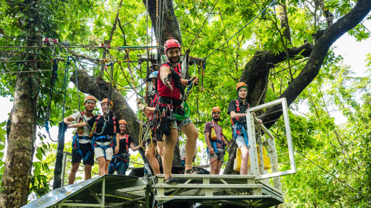 Avoid the crowds with our Jungle Surfing zip line tour adventure