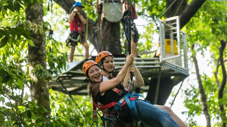 Ride the zip-line in Cape Tribulation