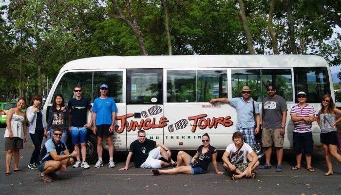Air-conditioned coach for your Cape Tribulation tour