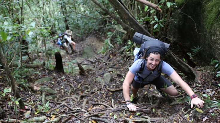 Hiking and trekking the local mountain ranges of Cairns