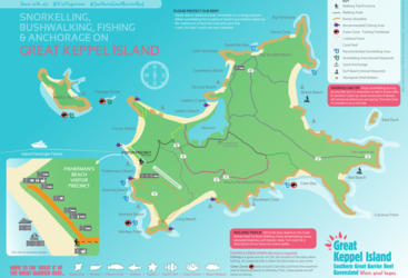 Great Keppel Island visitor map