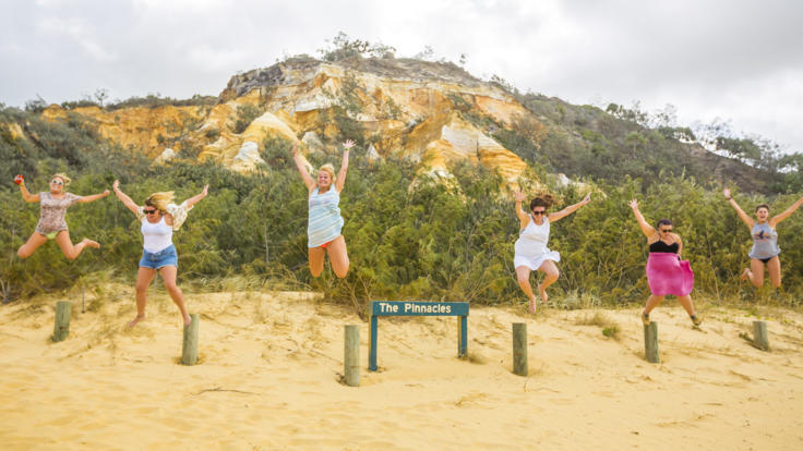More crazy antics and selfies on Fraser Island