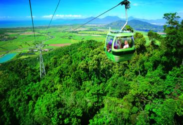 Experience magnificent views for the Skyrail rainforest gondolas