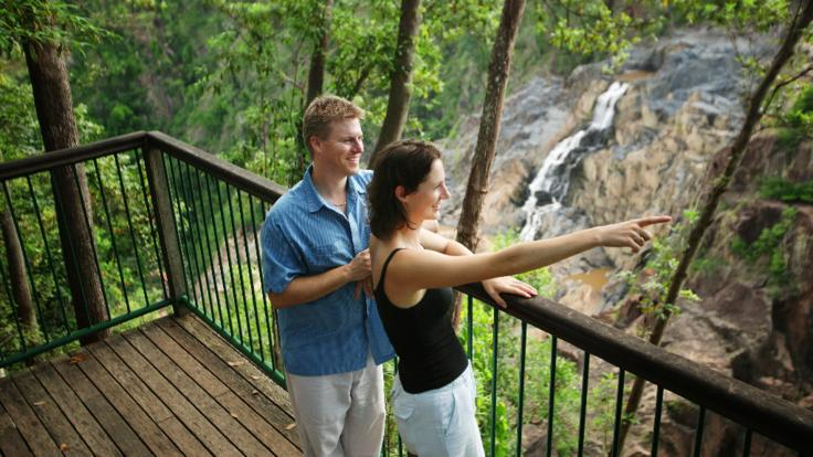 Take time to enjoy the sights on the magnificent waterfalls on the Kuranda day tour