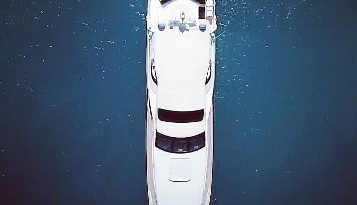 Superyachts Australia - Aerial View of the Yacht