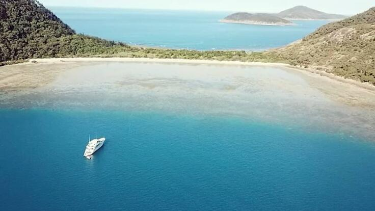 Superyachts Great Barrier Reef - Aerial View