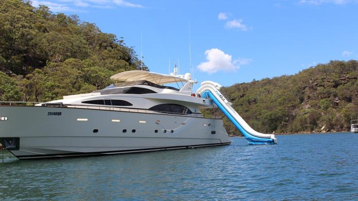 Private Superyacht Charter Great Barrier Reef | Waterslide