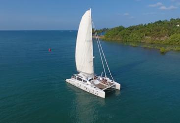 Port Douglas Private Charter Yacht | Aerial View Sailing the Great Barrier Reef | up to 12 guests