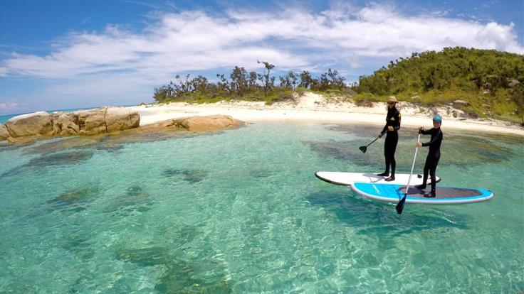 Yacht Charter Port Douglas - Explore Great Barrier Reef islands on SUP boards