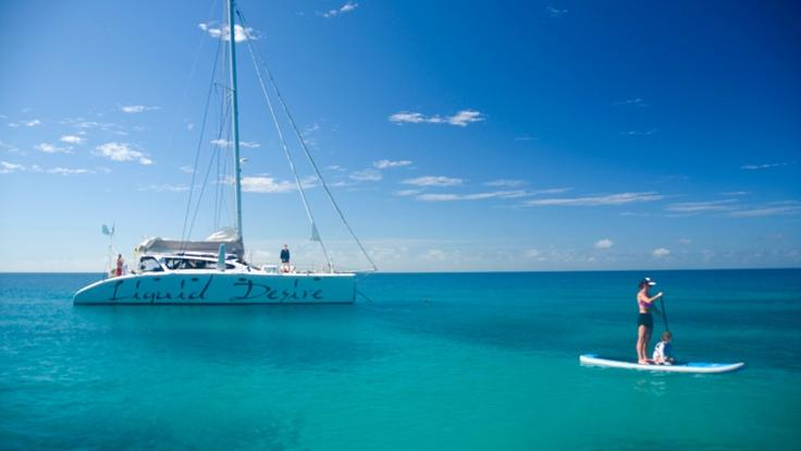 Port Douglas Private Charter Yacht | Stand Up Paddle Board on the Great Barrier reef