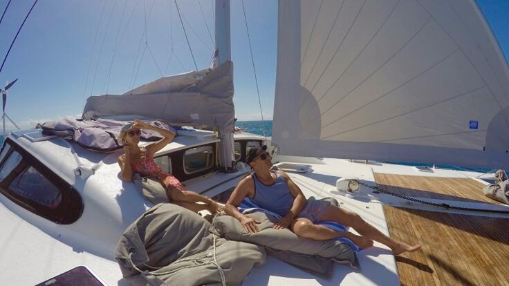 Great Barrier Reef Yacht Charter - Forward Deck