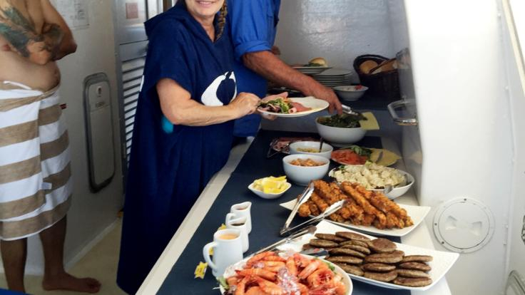 Enjoy your lunch on our Great Barrier Reef Tour from Mission Beach