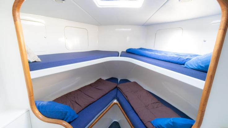 Sleeping on the Great Barrier Reef - Single bunk beds on Private Charter Boat in Cairns