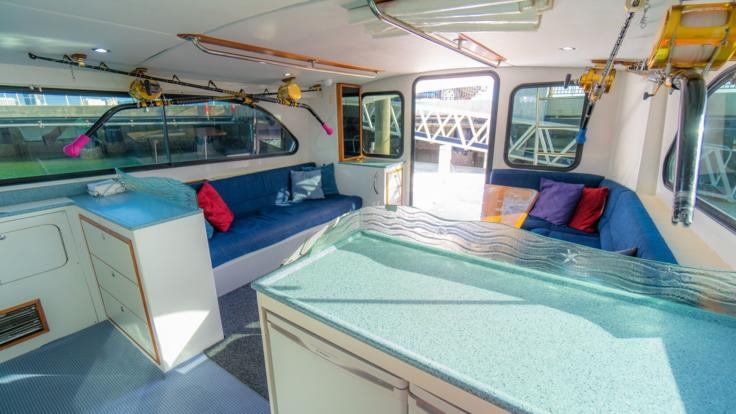 Cairns Private Charter Boat | Kitchen and Meal Preparation Area