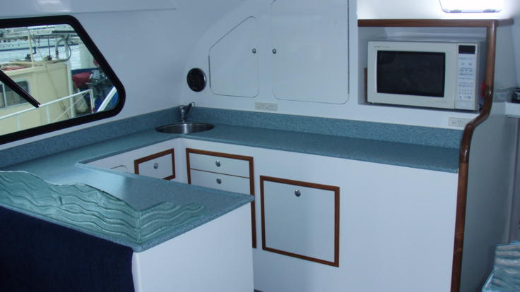 Charter Boats Cairns | Inside Galley Kitchen