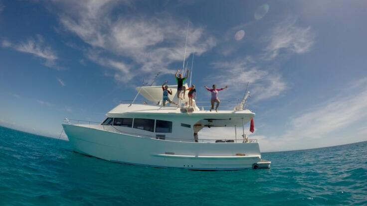Great Barrier Reef Charter Boats - Kids Having Fun On the Yacht