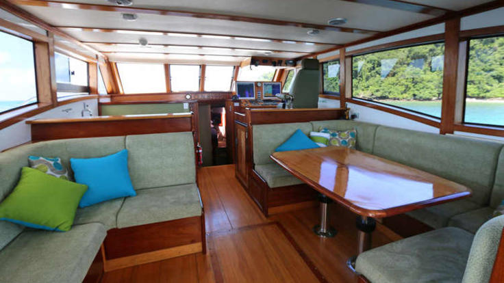 Private Charter Fly Bridge Cruisers Saloon | Great Barrier Reef Charter Boat