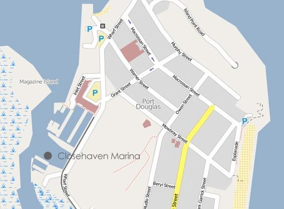 Map of Port Douglas and the Marina