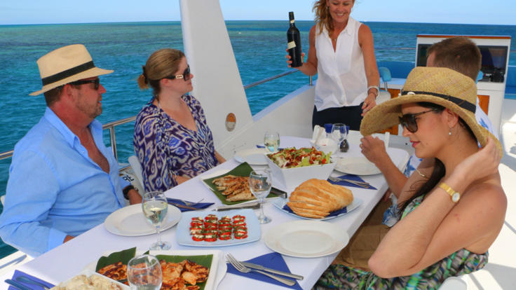 Your Private Charter Boat comes with attentive crew on the Great Barrier Reef