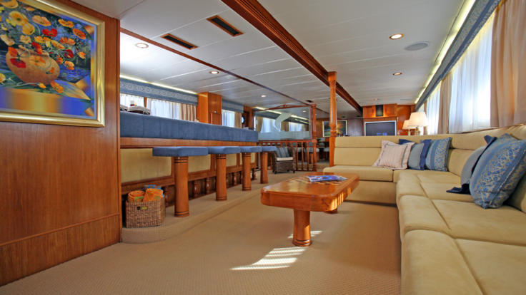 Inside Private Luxury Charter Boat - Available Great Barrier Reef and Overseas