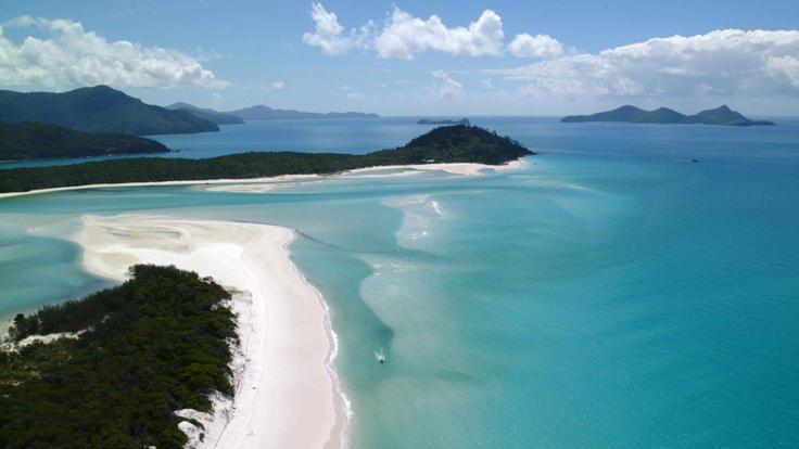 Whitsunday Private Charter Superyacht - Aerial View Whitehaven Beach -