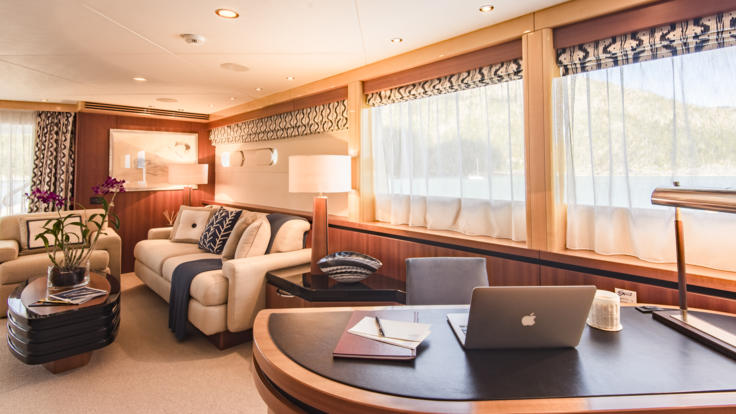 Superyachts Great Barrier Reef - Study In Master Cabin