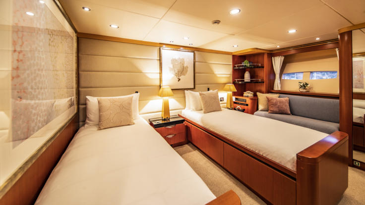 Superyachts Great Barrier Reef - Port Aft Cabin Split