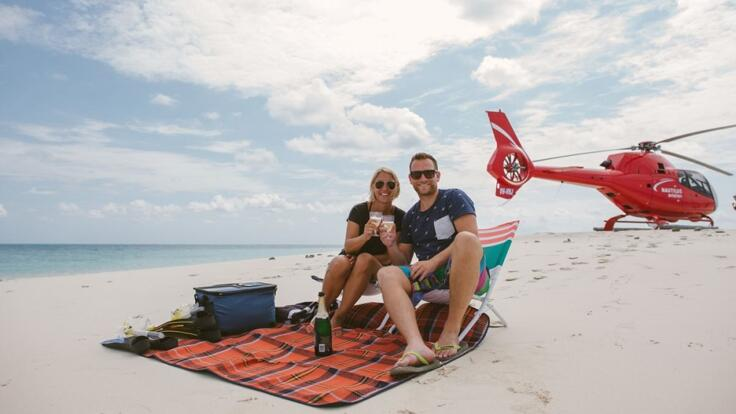 Scenic Helicopter Flights from Port Douglas over the Great Barrier Reef for Couples