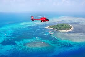 Helicopter Flight From the Beach On Green Island