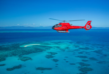 Cairns Helicopter Flights  - Arrive - Depart by Helicopter