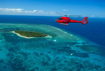 Great Barrier Reef Helicopter Flight - From Green Island