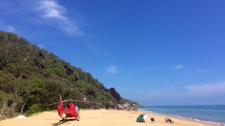 Port Douglas Helicopter Flight - Turtle Beach - Alternative Landing Site if Sand Cay is Taken