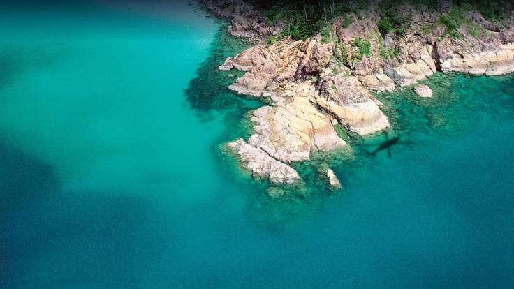 Great Barrier Reef Scenic Helicopter flight - stunning coastal views